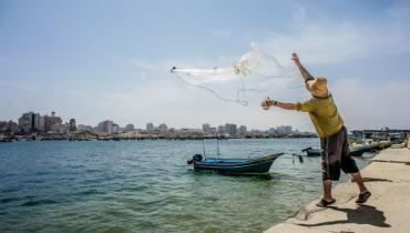 image du film Gaza, le gris devient bleu!